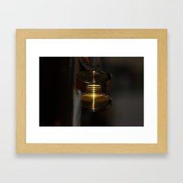 Spinning watch Framed Art Print