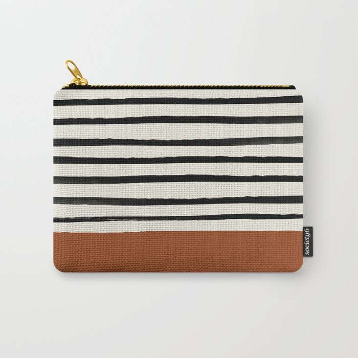 Burnt Orange x Stripes Tasche