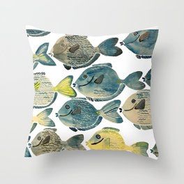 Blue Tang Throw Pillow