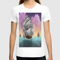 ships T-shirts featuring Rigged Ships by Yoly B. / Faythsrequiem