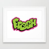 fresh prince Framed Art Prints featuring Fresh by MartiniWithATwist