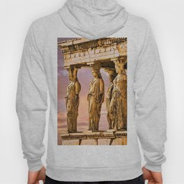 Porch of the Caryatids, Temple of Athena, Acropolis, Greece Portrait Painting Hoody