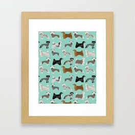 Chinese Crested dog breed variety of coats dog breed dog owner must have gifts for dog person Framed Art Print
