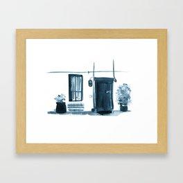 Small Street, Small Entrance  Framed Art Print