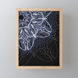 Butterflies - Distressed Shaded Mandala Framed Mini Art Print