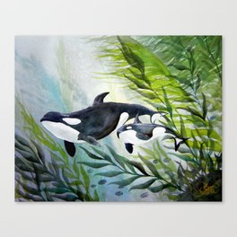 Mother Orca Canvas Print