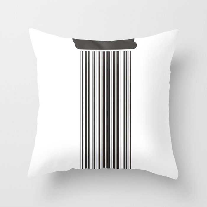 Barcode Rain Throw Pillow