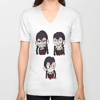 dangan ronpa V-neck T-shirts featuring Fukawa by dartty
