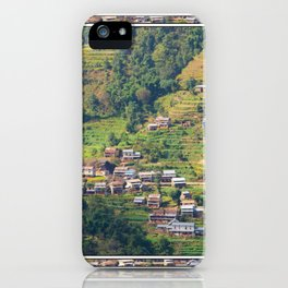 TERRACED HIMALAYAN FOOTHILLS VILLAGE IN NEPAL iPhone Case