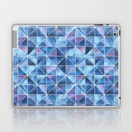 Geometric Watercolour Galaxy Squares and Triangles Laptop & iPad Skin