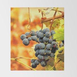 Grape Vines in Autumn Throw Blanket