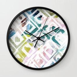 Awash | Colorful Geometric Print Wall Clock