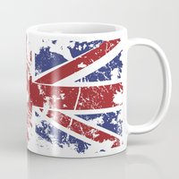 uk Mugs featuring Grunge UK by Sitchko Igor