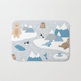 Arctic animals Bath Mat