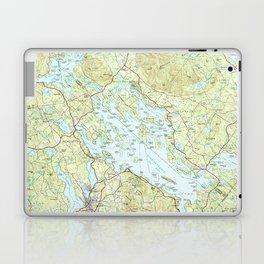 Lake Winnipesaukee Map (1986) Laptop & iPad Skin