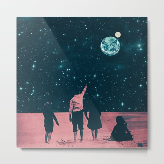 Once Upon A Time on Mars or Children of Mars Metal Print