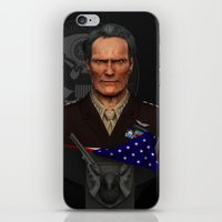 clint eastwood iPhone & iPod Skins featuring Clint Eastwood by Aravindan