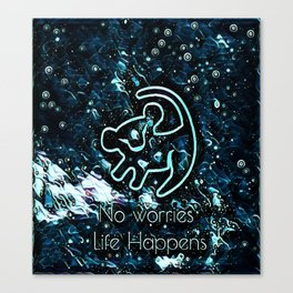 Life Happens Crystal Canvas Print