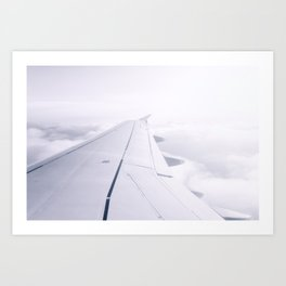 Above the Clouds | White wing Art Print