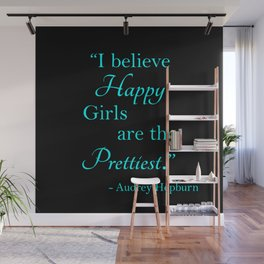 Happy Girls - Blue and Pink Wall Mural