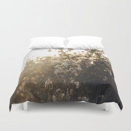 late night conversations with the moon Duvet Cover