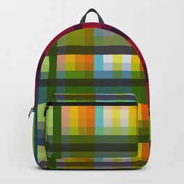 Colorful Grid Nariphon Backpack