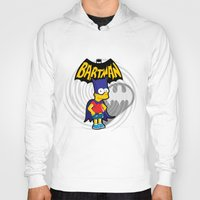 simpsons Hoodies featuring Bartman: the simpsons superheroes by logoloco