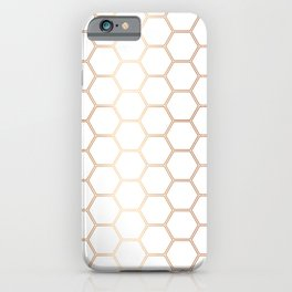 Geometric Honeycomb Pattern - Rose Gold #372 iPhone Case