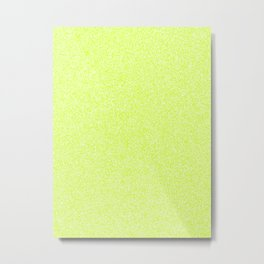 Melange - White and Fluorescent Yellow Metal Print