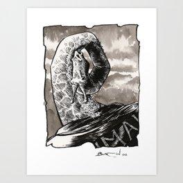 Jirafa / Giraffe Art Print