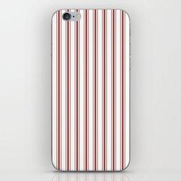 Vintage New England Shaker Barn Red Milk Paint Mattress Ticking Vertical Wide Striped iPhone Skin