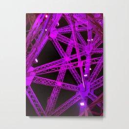 Violet Eiffel Tower Design Metal Print
