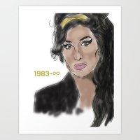 Legends Never Die : Amy  Art Print