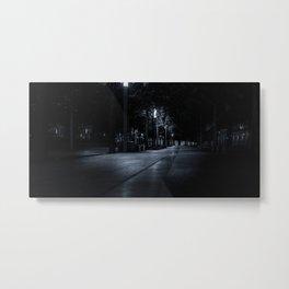 Night city park, downtown, Manhattan, New York (2020-5-GNY156) Metal Print