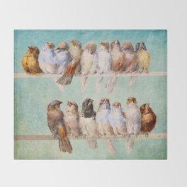 Birds Birds Birds Throw Blanket