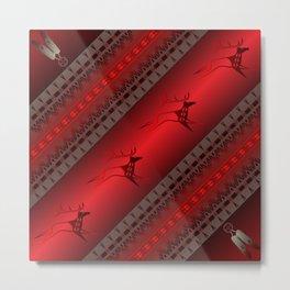 Elk Spirit (Red) Metal Print