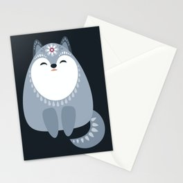 Winter Fox And Snowflakes Stationery Cards