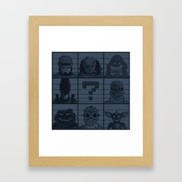 Select your character Framed Art Print