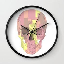 Human skull with stripes Wall Clock