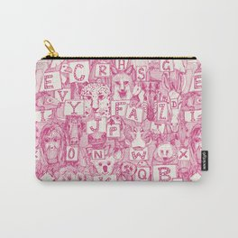 animal ABC pink ivory Carry-All Pouch