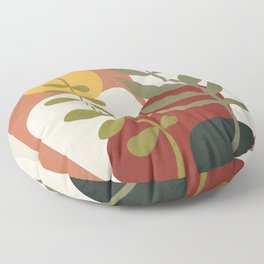 Two Abstract Branches Floor Pillow
