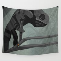 chameleon Wall Tapestries featuring Chameleon by Andrew Formosa