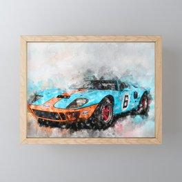 GT40 Framed Mini Art Print