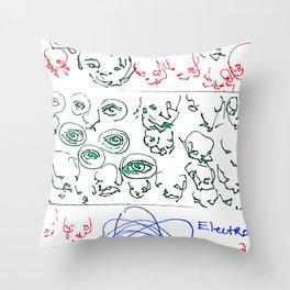 Electron Throw Pillow