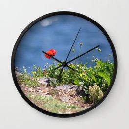 Spring Papaver 889 Wall Clock