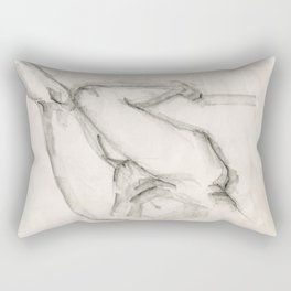 Nude Woman Sketch Rectangular Pillow