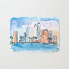 Austin Texas Skyline During Sunset Bath Mat