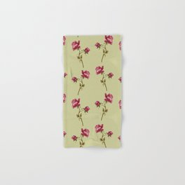 Embroidered Rose Hand & Bath Towel