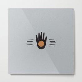 Hand High Five Sun Metal Print