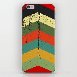 Grunge chevron iPhone Skin